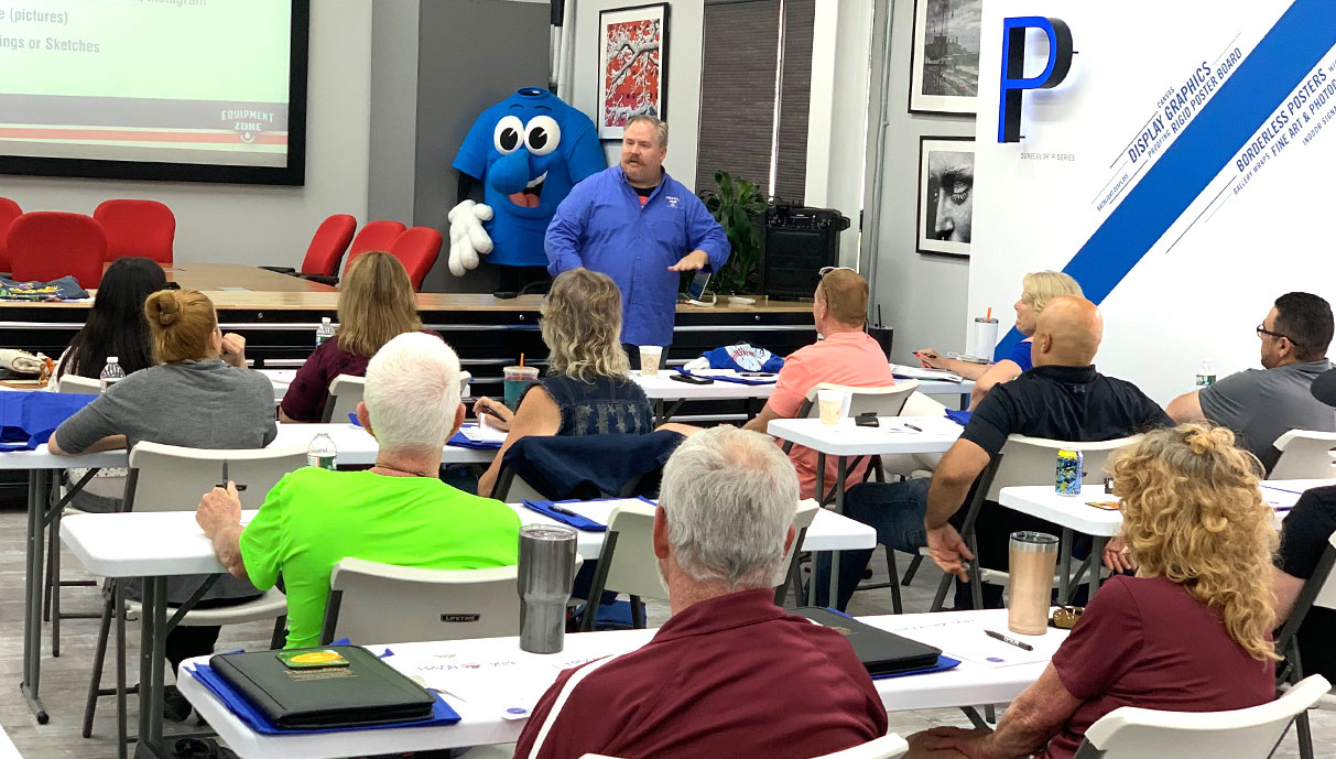 Equipment Zone F2000 DTG Printer Class at ISS Nashville