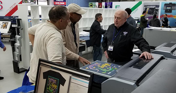 Equipment Zone F2000 DTG Printer Class at NBM Long Beach