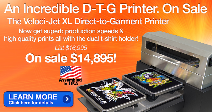 Veloci-Jet XL Direct-to-Garment Printer