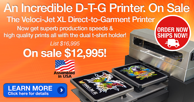 Equipment Zone Direct-to-Garment Printer Packages