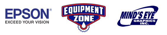 Epson, Equipment Zone, Mind's Eye Graphics Sponsor Logos