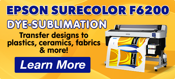 Epson SureColor F6200 Dye-Sublimation Printer - Learn More