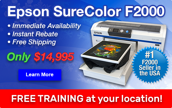 Learn More about the Epson F2000 DTG Printer on Sale for $14,995