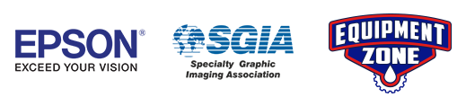 Equipment Zone Epson SGIA Logos