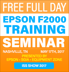 Direct To Garment Seminar - ISS SHOW Nashville 2017 - Equipment Zone - May 17th, 2017 - Register Now